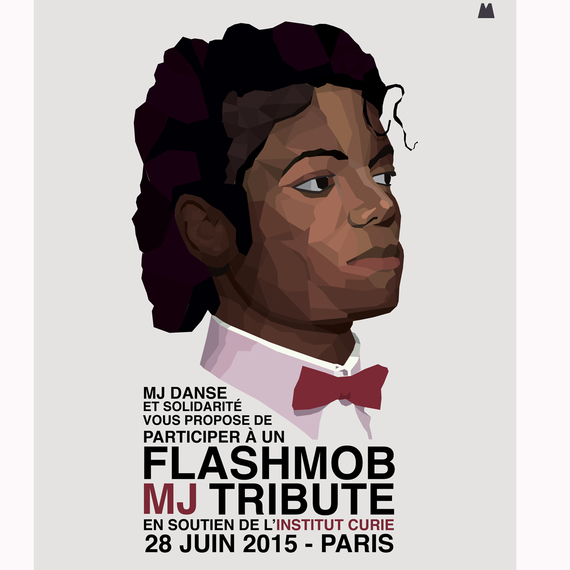 GROS FLASHMOB TRIBUTE TO MJ A PARIS - SOUTIEN INSTITUT CURIE