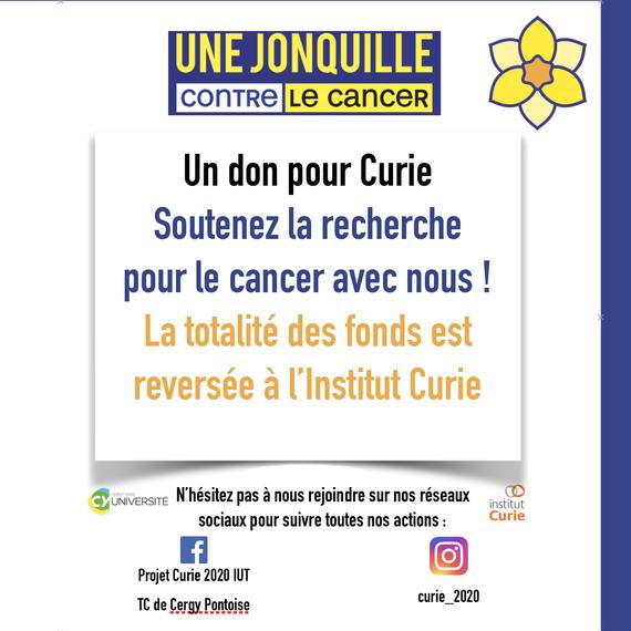 Soutenez la recherche contre le cancer avec nous !
