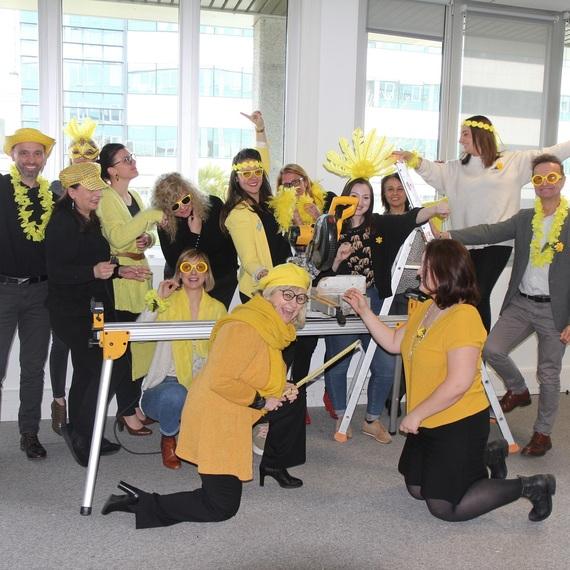 La team Com' Swiss Life s'engage contre le cancer