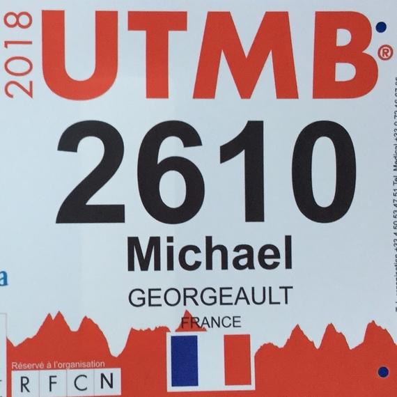 UTMB 2018- Dossard 2610